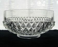 Collectible Indiana Glass Company Candy Dish with Divider  OrangePink Sectional Serving Dish  Centerpiece  Fruit Dish  Salad PlateF173