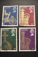 GB 1978 Commemorative Stamps~Coronation~Very Fine Used Set~UK Seller