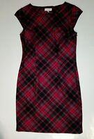 Damen kleid winterkleid gr.38 kariert rot schwarz neu
