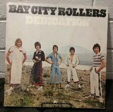 Tested Vintage Bay City Rollers Dedication Used Lp Vinyl Rock 1976 In Great Cond