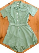 RARE 1940s Girl Scout Camp Uniform DRESS BLOOMERS BELT, Display Museum Collector