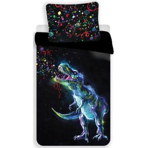 Dinosaur Black Duvet Set Single bed covers set Bedding set