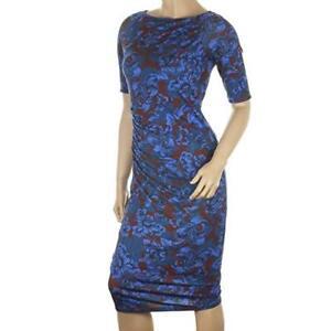 Ex High Street womens ladies Bodycon Blue Floral Print Ladies Party Dress