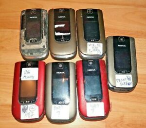 LOT 7x BROKEN NOKIA 6350 UNLOCKED BELL AT&T TELUS CRICKET CELL PHONE PARTS FIX