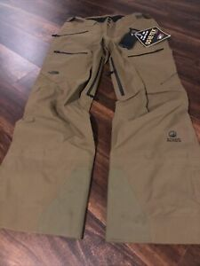 The North Face Purist Womens Ski Snow Pants Gore-Tex Size Large Green Black $449
