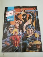 "CROSSROADS PROMO POSTER 17"" x 22"" FIRST COMICS 1988 RARE MITCH O'CONNELL! UNUSED"