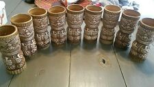 """9 Vintage Orchids of Hawaii Tiki Cups Mugs R-3 MOA Head 6"""""""