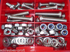 100 Teile Vite Acciaio Inox ISO 7380 DADI SCATOLA M8 Assortimento XXL