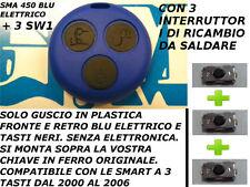 COVER BLU ELETTRICO (vari colori) SMART FORTWO 450 3 TASTI TELECOMANDO +3 Switch