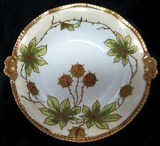 Antique Coiffe Flambeau LDBC Limoges Victorian Artist Signed Gilbert Deep Bowl