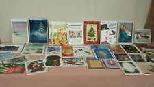 Lot of 50 Unused Christmas Holiday New Years Greeting Cards and Money Cards