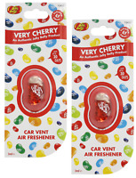 2 X Jelly Belly VERY CHERRY Car Air Vent Clip Air Fresheners *FAST UK DISPATCH*