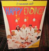HAPPY ENDINGS: THE COMPLETE FIRST & SECOND SEASON 4-DISC DVD SET, SEASON 1 & 2