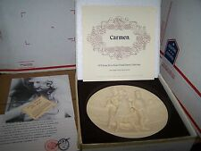 "Collector PLATE 1978 La Scala Grand Opera ""Carmen"" w COA Gino Ruggeri Alabaster."