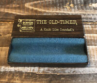 Vintage Schrade Cutlery OLD TIMER 1080T Pocket Knife BOX ONLY Like Grandads
