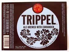 New Belgium TRIPPEL beer label CO 22oz