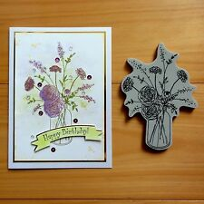 """CLEARANCE"" PENNY BLACK FRAGRANT FLORAL BOUQUET SLAPSTICK CLING STAMP - BNIP"
