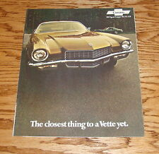 Original 1971 Chevrolet Camaro Foldout Sales Brochure 71 Chevy