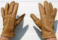U.S. WW2 M-39 TYPE 1 AIRBORNE BROWN LEATHER GLOVES ( A-244 ) LARGE