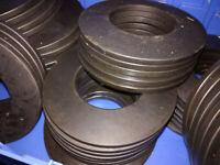 10 Stück Tellerfedern DIN 2093 Federstahl ca. 25x12x2 mm Tellerfeder
