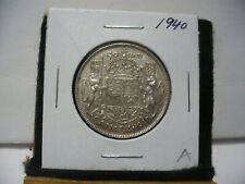 1940  CANADA  SILVER  HALF  DOLLAR  50 CENT PIECE   40A    GOOD GRADE