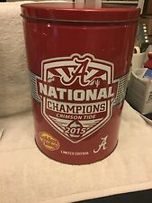 2015 Alabama National Champions Golden Flake Tin With Chips