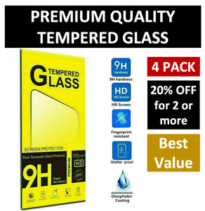 4 Pack for iPhone 11 Pro 8 7 6s Plus X Xs Max XR Tempered GLASS Screen Protector