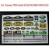For 1/10 Traxxas TRX4 Axial SCX10 RC4WD D90 D110 RC Crawler Logo Water Sticker