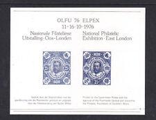 South Africa National Philatelic Exhibition Olfu 76 Elpex M/S Muh.
