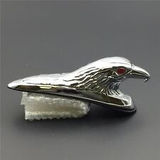HTT Motorcycle Chrome Front Fender Bonnet Eagle Head with Red Eyes