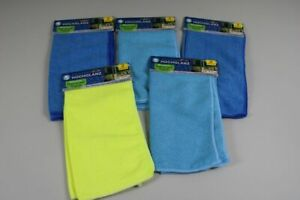 10x Microfibre Cloth Cleaning - 5x 2er Pack - Different Colours /208
