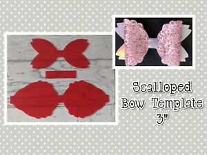 "🎀 3"" Scalloped Bow Plastic Template  🎀"