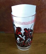 DAVY CROCKETT VINTAGE 1950s? JELLY DRINKING GLASS - KING OF THE WILD FRONTIER!