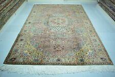 Oriental Rug 6x9,Red Area Rug,Oushak Rug Red,Turkish Tribal Rug,Vintage Wool Rug