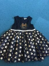 Gorgeous Disney Baby Black And Gold Minnie Mouse Age 6-9m