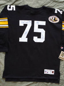 Steel Curtain Autographed Pittsburgh Steelers Throwback Jersey w/Ticket  - NWT