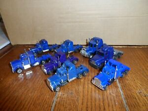 HO SCALE KENWORTH  TRACTOR CAB'S  LOT OF 8 PCS.  BLUE