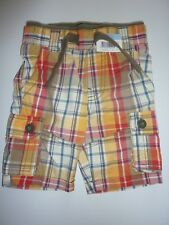 Little Boys Checked Shorts Size 12-18 Months NWT