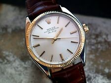 Just Beautiful 1980 Steel & Gold Rolex Oyster Airking Gents Vintage Watch