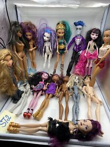 15 Mattel Monster High Lot Dolls + Clothed/Naked