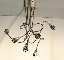 Tiffany Stil Schwanenhals Spinnen Deckenlampe 7flg, Halogen, 80er