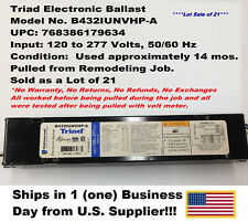 TRIAD B432IUNVHP-A BALLAST (Sold as a Lot of 21) Used/Tested   UPC: 768386179634