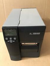 Zebra ZM400 paralelo USB Ethernet Garantía De Código De Barras Impresora De Etiquetas Térmica Directa
