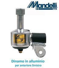 0090 - Dinamo in alluminio per anteriore SX per bici 26-28 R Viaggio bacchetta