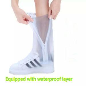 Waterproof Reusable Durable Rubber Rain Boot Shoe Anti-slip Rain shoe covers