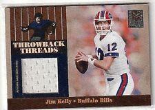 JIM KELLY 2006 DONRUSS ELITE THROWBACK THREADS GAME USED JERSEY#249