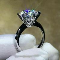 2.00 Ct Certified Moissanite Diamond Engagement Ring in 14K White Gold Finish
