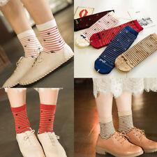 Ladies Women Girls Socks Striped Lovely Cat Socks Patterned Casual Socks