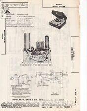 1966 PHILCO P1441EB RECORD PLAYER CHANGER AMP SERVICE MANUAL PHOTOFACT SCHEMATIC