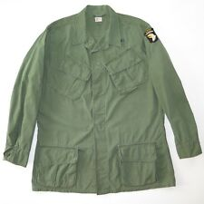 VINTAGE US ARMY 3nd PATTERN JUNGLE JACKET 1967 LARGE LONG 101 AIRBORNE PATCHE